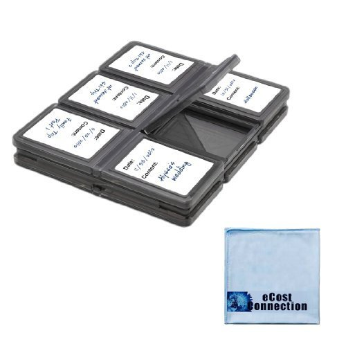 ecost memory cards eCost 12 pc Foldable SD Memory Card Case + Microfiber Cloth
