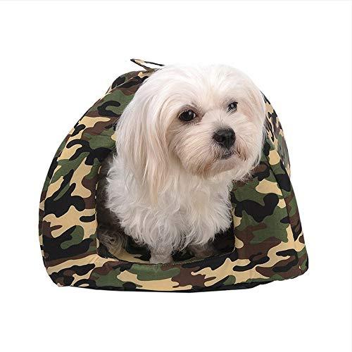 Wuwenw Camouflage Hundebetten Für Kleine Hunde Nest Produkte Für Katzen Winter Warm Dog House Betten Katze Zelt Kennel Hundebett Pet Supplies, XXL