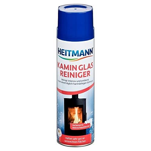 Heitmann Kamin Glas-Reiniger: Aktivschaum für hartnäckigen Schmutz, Kaminreiniger, Entrußer, Ofenreiniger 500 ml Dose