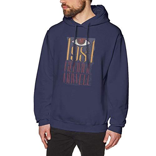 BAODANLE Männer Hoodies 1981 George Orwell Printed Hoodies Sweatshirts for Men Women Unisex Pullover Hooded Shirts Casual Top