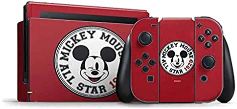 Skinit Decal Gaming Skin for Nintendo Switch Bundle - Officially Licensed Disney Mickey Mouse All Star Design