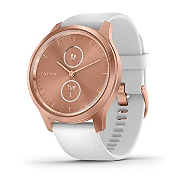 Garmin vivomove Style Hybrid Smartwatch (Rose Gold with White Band)
