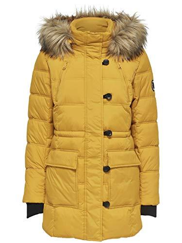 Only Onlnewottowa Nylon Coat Otw Abrigo, Amarillo Golden Yellow, 38 (Talla del Fabricante: Small) para Mujer