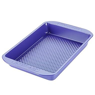 Farberware purECOok Hybrid Ceramic Nonstick Bakeware Baker & Rectangular Cake Pan, 9-Inch x 13-Inch, Lavender