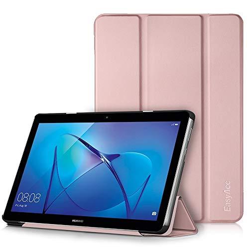EasyAcc Hülle für Huawei Mediapad T3 10 Hülle, Ultra Schlank Schutzhülle Hülle mit Zwei Einstellbarem Standfunktion Für Huawei MediaPad T3 10 (9,6 Zoll), Roségold