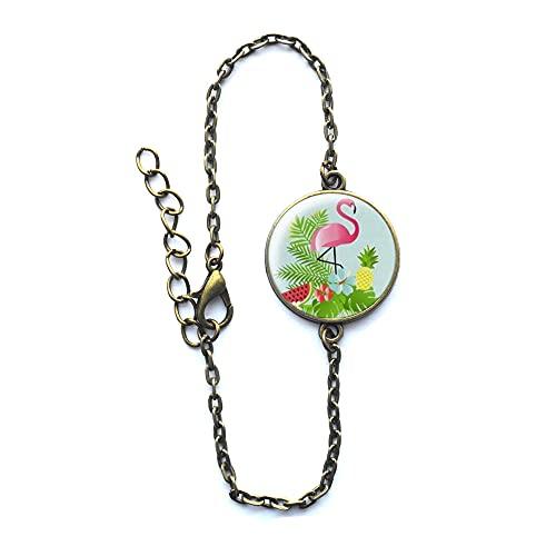 Rosa Flamingo-Armband, Flamingo-Armband, Vogel-Armband, Flamingo-Armreif, Vogel-Schmuck, Modeschmuck, Geschenk für Frauen – #145