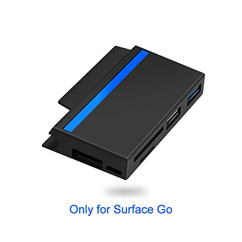 Surkit Surface Go Docking, Lector de Tarjetas SD/Micro SD y 2 Puertos USB, Surface Go hub con Ranura para Empuje para Pen Drive y Micro USB DC Fuente de alimentación Otros Dispositivos