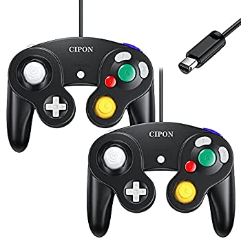 Cipon Controller Classic Gamepad Compatible with Nintendo Gamecube & Wii - 2 Pack | Black