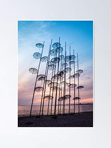 AZSTEEL Póster de Thessaloniki Umbrellas 11,7 x 16,5
