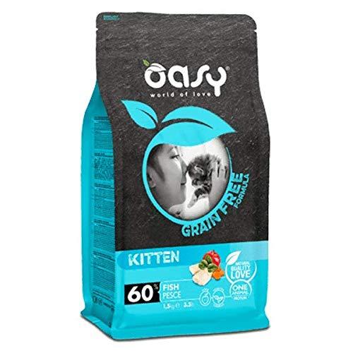 Oasy Gatto Grain Free Kitten Pesce 1,5kg