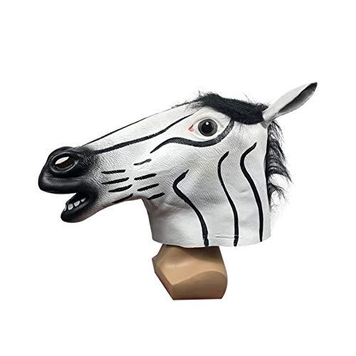 ZHANGXIAOYU Divertido de Halloween máscara de la máscara de Animal Caballo Parte establezca actuaciones Tocado de la Mascarada de la Historieta Linda Parodia de los apoyos (Color : Multi-Colored)