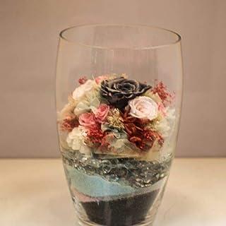 Home design - composizione rose stabilizzate nel vetro