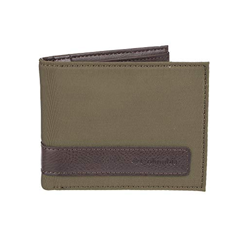 Columbia Men's RFID Blocking Nylon Slimfold Wallet, olive, One Size