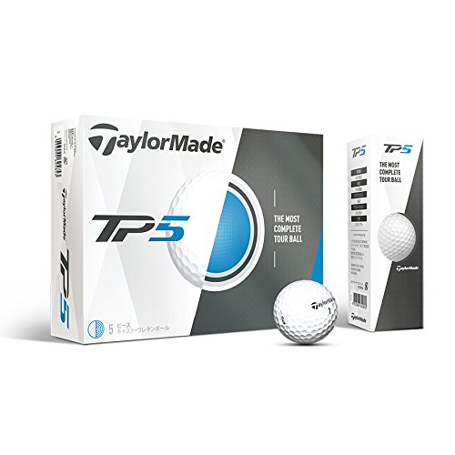 TaylorMade 2017 TP5 Golf Balls, Pack of 12