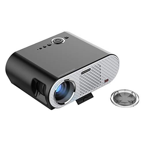 Proyector Gp90 350LM 1280 * 800 LED proyector de Cine en casa de Alta definición HD con Mando a Distancia, Soporte HDMI, VGA, USB Interfaces (Negro) LFQ (Color : Black)
