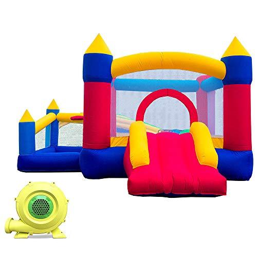 Ballsea Castillo Hinchable, Castillo Infantil Juego Niño de 3 a 12 Años, para Jardín Parque Interiores (Tela de Oxford)
