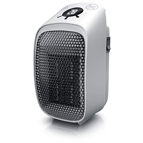 Steckdosen Heizlüfter Mini Keramik Heizung - Digital Anzeige Temperatur Timer - Lüfter 400W - Temperaturregelung Timer Überhitzungsschutz - Steckdosen-Heizlüfter - Badezimmer Schlafzimmer