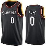 GIHI Camiseta De La NBA para Hombre, Nueva Temporada De 2021 Cleveland Cavaliers 0# Camisetas De Kevin Love, Ropa De Entrenamiento De Baloncesto De Malla Bordada Retro,L(175~180CM/75~85KG)