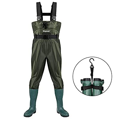 Magreel Chest Waders, Hunting Fishing Waders Fly Fishing Waders for Men Women with Boots, Waterproof Bootfoot Nylon/PVC Wader, Size 7-Size 14
