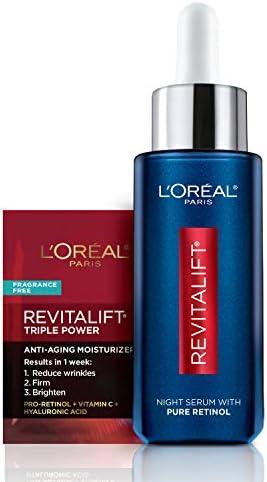 L Oreal Paris Revitalift Derm Intensives Night Serum Retinol Serum for Face 0 3 Pure Retinol product image