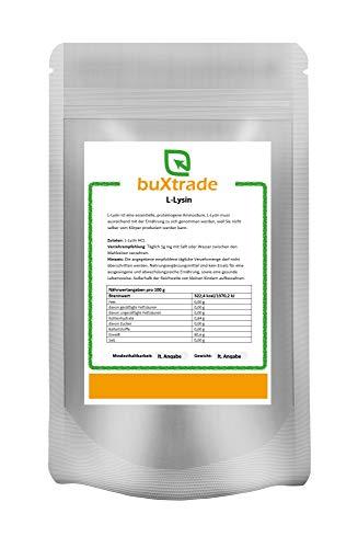 250 g reines L-Lysin Pulver - Aminosäure Lysin HCL Lysine 100% rein Amino Fitness