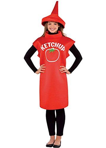 MAGICBOX Costume adulto divertente bottiglia di ketchup