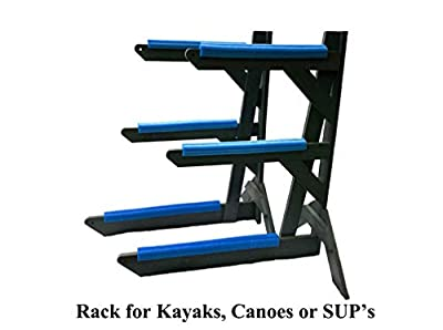 Storage Rack Solutions Indoor or Outdoor Kayak Rack, Canoe Rack, or SUP Rack – Rack in a Box - Holds 3 Units