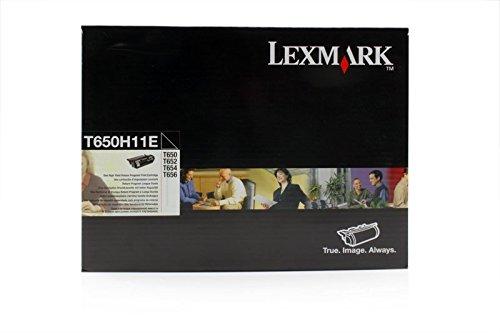 Lexmark T650H11E - Cartucho de tinta original para impresora T 654 DTN Premium, 25000 páginas, color negro