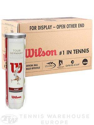 Wilson Tour Germany Clay DTB - Tennisbälle - 12 Bälle (3 Dosen mit je 4 Bällen)  - gelb - offizieller DTB-Spielball 2014/2015