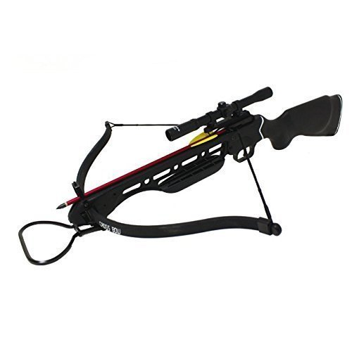 Manticore 150lbs Black Hunting Crossbow with Scope, 8 x...