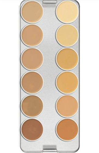Kryolan 1004 Supracolor Makeup Palette 12 Colors - TV (Brand New Color)