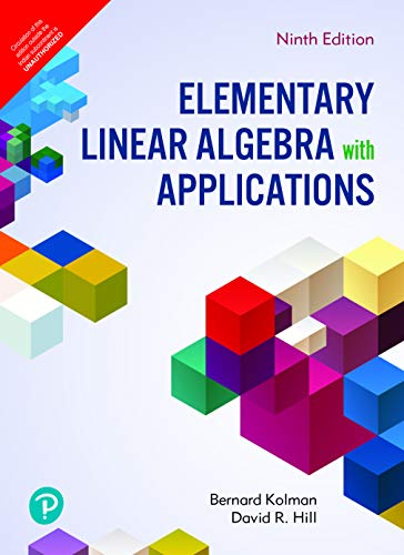 Elementary Linear Algebra with Applications | Ninth Edition | By Pearson