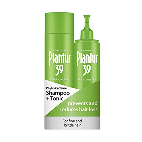 Plantur 39 Pack de Shampoo Phyto con cafeína 250 ml y tonico 200 ml | evita y reduce la caida cabello mujer | para cabello fino y quebradizo | tratamiento anticaida cabello mujer