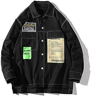 HAWEEL Leisure Art Port Wind Long Sleeve Shirt Jacket for Men Windbreaker Jacket