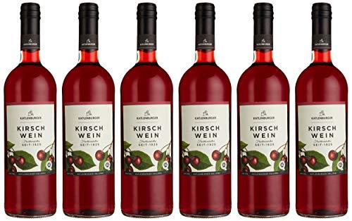 Katlenburger Fruchtwein Kirsche 6x 0,75l, reiner Kirschwein Fruchtwein, blumig aromatischer Obstwein mit ausgeprägtem Kirschgeschmack, 8,5% vol.