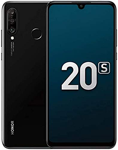 HONOR 20S Smartphone6.15''FHD+, Móviles6GB RAM 128GB ROM, 48MP + 8MP + 2MP Cámara Trasera Triple,NFC DUAL SIM, 3D Cuerpo de Vidrio Curvo Android Teléfono,Negro