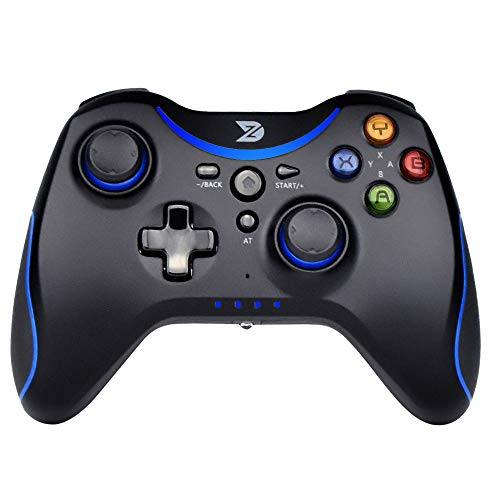ZD-T [2.4 G] Pro Wireless Gaming Controller for Steam, Nintendo Switch, PC (Win7-Win10), Android Tablet, TV Box (Azul)