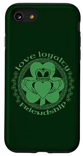 iPhone SE (2020) / 7 / 8 Claddagh Ring Irish Shamrock Green Celtic St Patrick's Day Case