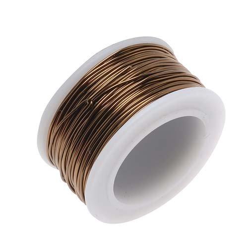Beadsmith WCR-4206 22 Gauge Antique Vintage Bronze Brass Color Copper Craft Wire, 15 yd