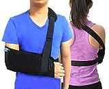 TODDOBRA Medical Arm Shoulder Sling with Back Belt, Men & Women Shoulder Immobilizer Stabilizer for Elbow, Lightweigh Arm Support Brace Strap for Broken Fractured Arm--(Size S)