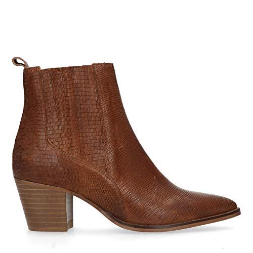 Sacha Braune Chelsea Boots mit Absatzcognac Braun