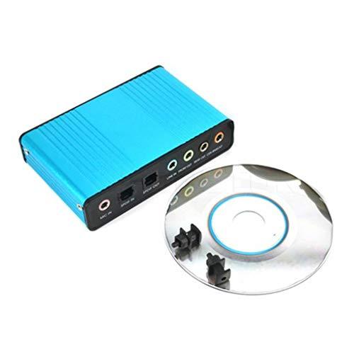 LXJLXJ USB de 6 Canales 5.1/7.1 Surround Tarjeta de Sonido Externa PC de Escritorio del Ordenador portátil de la Tableta o Tarjeta de Adaptador óptico
