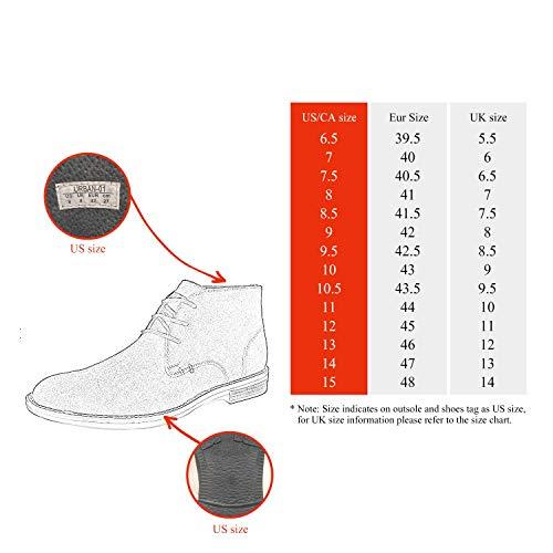 BRUNO MARC MODA ITALY URBAN-0 Men's Classic Lace Up Original Suede Leather Midsole stripe Desert Wind boots TAN-SZ-9.5