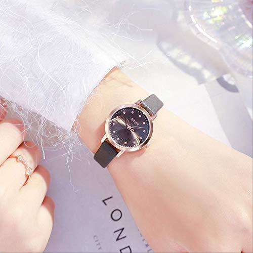 Miwaimao Uhr Schulmädchen Einfache Ins Wind Wasserdicht Kleine Zifferblatt Kleine Temperament Dame Kleine Gruppe Licht Luxus Damenuhr