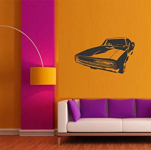 myrockshirt Cooler Ami Schlitten Lowrider US Car 50cm Aufkleber Autoaufkleber Sticker Decal UV&Waschanlagenfest Profi Qualität