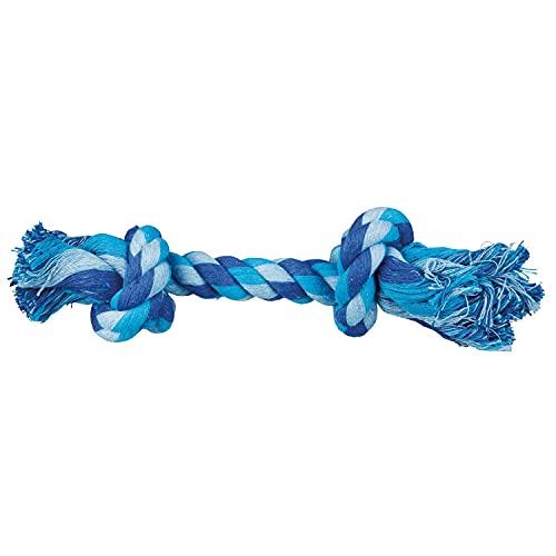 Trixie 32652 Denta Fun, corda da gioco in puro cotone, 28 cm, Colori assortiti, 1 pezzo