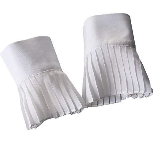 YAKEFJ Floral Layered Lace Manschette Stretch-Armband mit falschen Ärmeln Handgelenk Manschetten 1 Paar