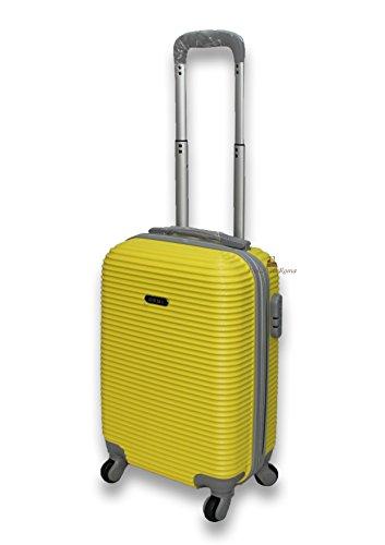 Ormi Trolley Mod. 165 Rigido in Abs 52 Cm 32 Litri 4 Ruote, Bagaglio a Mano (Giallo)
