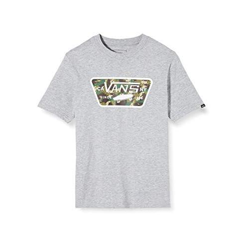 Vans Full Patch Fill Boys T-Shirt, Grigio (Athletic Heather/Dino Camo YIU), Medium Bambino