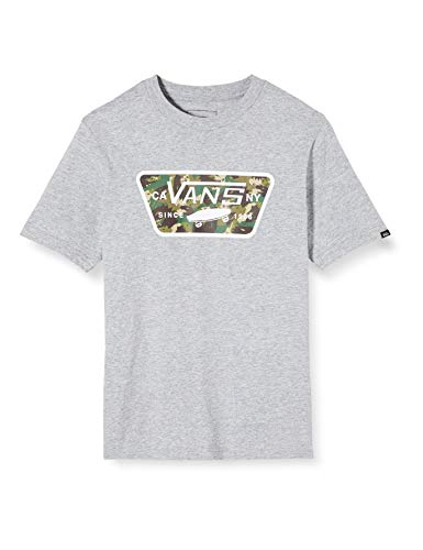 Vans Jungen Full Patch Fill Boys T-Shirt, Grau (Athletic Heather-Dino Camo YIU), Medium
